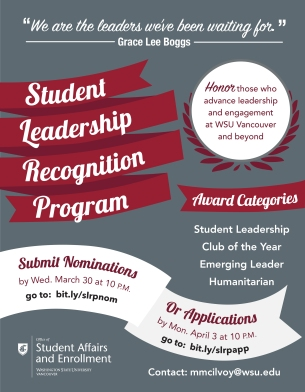 Nominations and Applications flyer