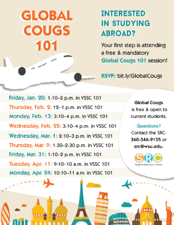 Global Cougs 101 schedule
