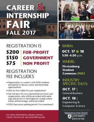 Employer Registration for 2017 Career Fair flyer
