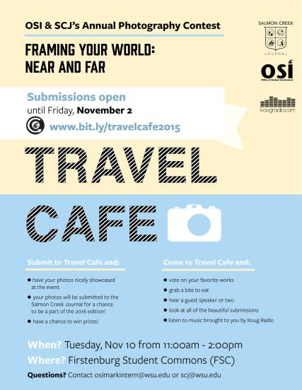 Travel Cafe Photo Contest flyer