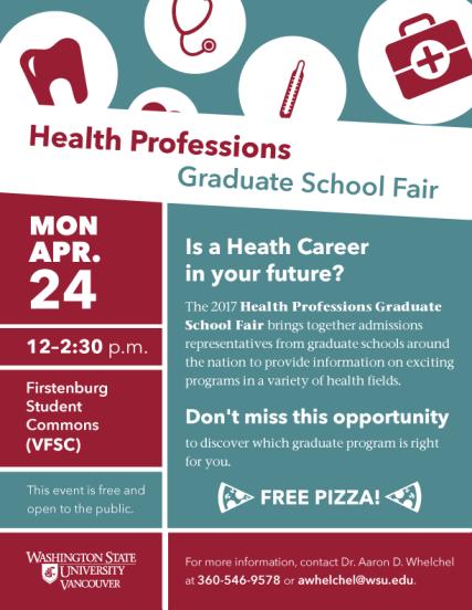 Health Professions Graduate School Fair flyer