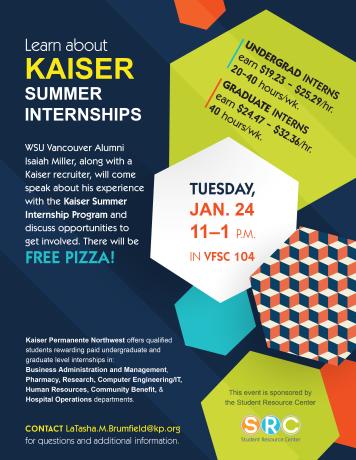 Kaiser Internships flyer